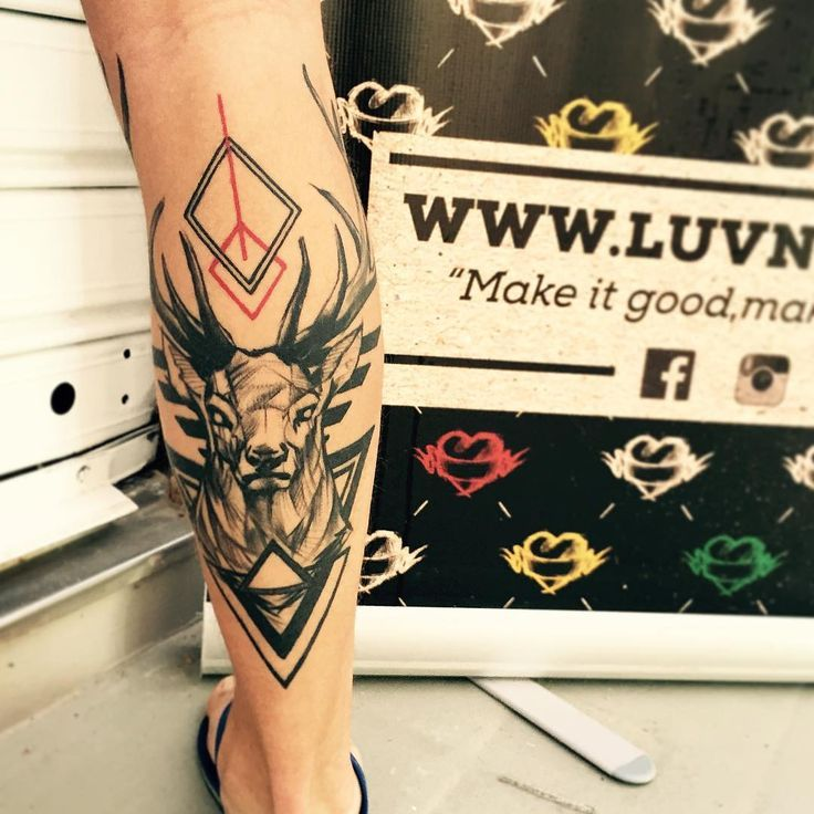 coolTop Geometric Tattoo - 65 Nobel Deer Tattoo Meaning and Designs - Wild Nature...