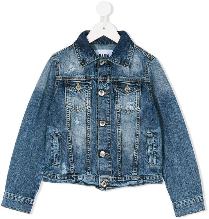 f92f9f2f0 Msgm Kids Flap Pockets Denim Jacket in 2018