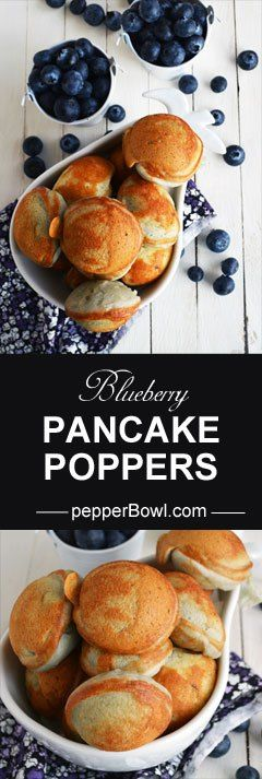 Blueberry pancake poppers. We are really happy with the result and making it quite often in our kitchen. with step by step pictures | pepperbowl.com
