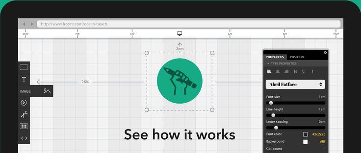FROONT – design responsive websites in the browser