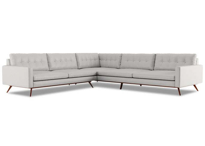 Leather Sectional Sofa Nixon L Shape Sectional by Thrive Furniture Mid century couches Pinterest Fabrics and Furniture