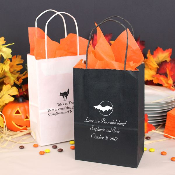 LOVE IS A BOO-TIFUL THING 5 x 8 Custom Printed Petite Paper Halloween Gift Bags