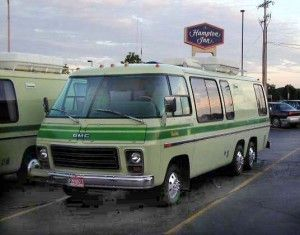 GMC motor home in green!