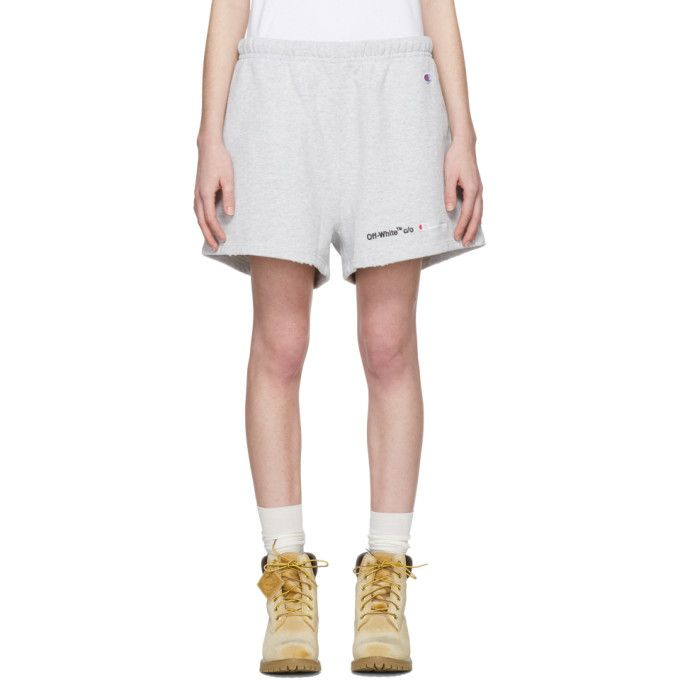 195b5937dbe8 OFF-WHITE Grey Champion Reverse Weave Edition Lounge Shorts.  off-white   cloth
