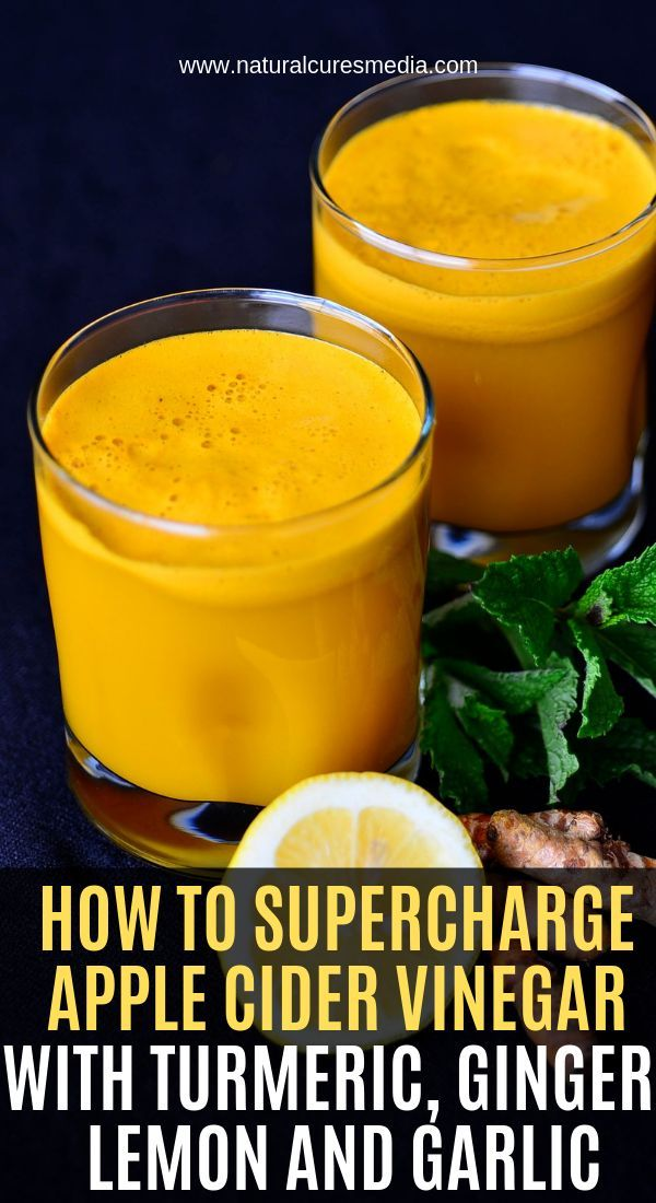 How To Supercharge Apple Cider Vinegar With Turmeric Ginger