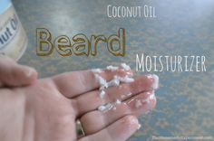 DIY Coconut Beard Oil Moisturizer