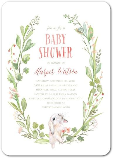 Sprouting Love - Baby Shower Invitations in Coral | Lady Jae Designs