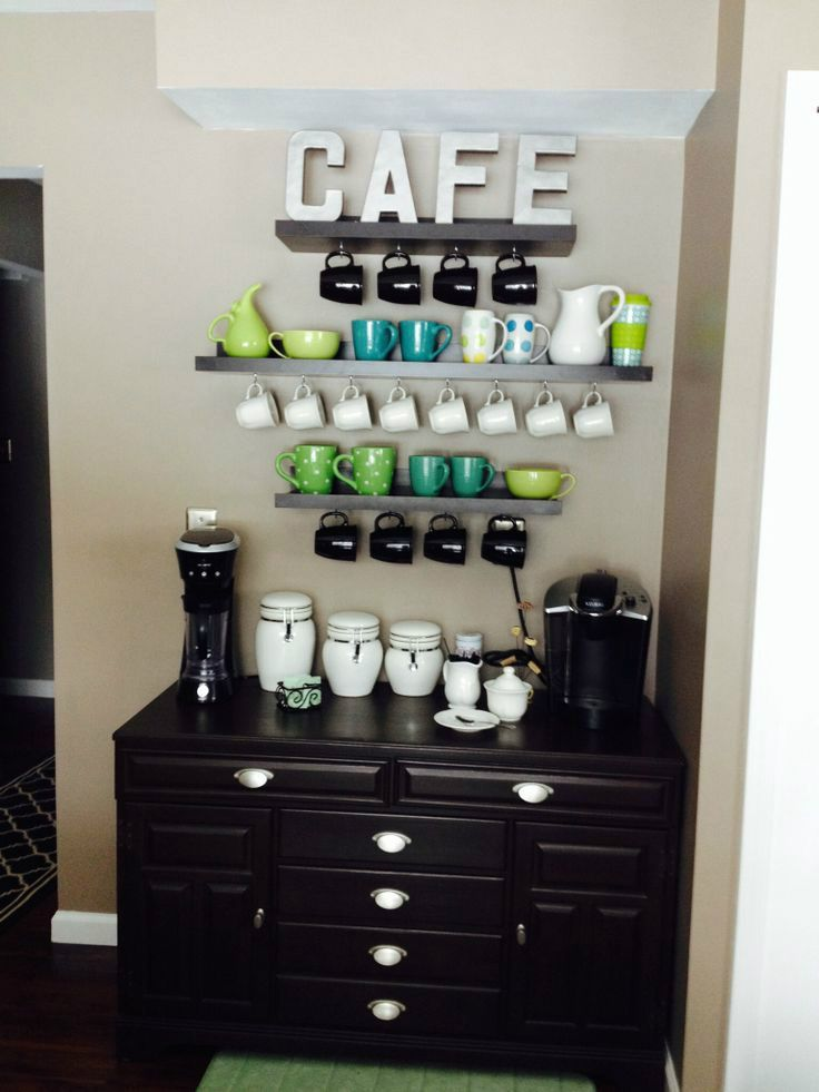 Best 25 home coffee stations ideas on pinterest home for Home bar station