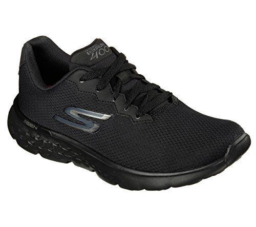 Performance Go Run 400-Action, Chaussures de Running Femme, Noir (Black White), 40 EUSkechers