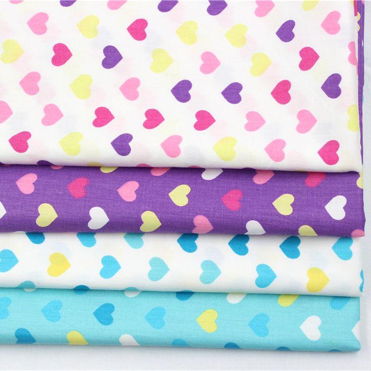 Pas cher 1617160, 50 cm * 50 cm 4 couleur mix amour série coton tissu, Bricolage à la main patchwork tissu de coton, Accueil textile livraison gratuite, Acheter Tissu de qualité directement des fournisseurs de Chine: 1. Matériel: 100% coton 2. Taille: 50*50 cm (coupé à la main, erreur +-2 cm) 3. Couleur: 4 couleurs comme l