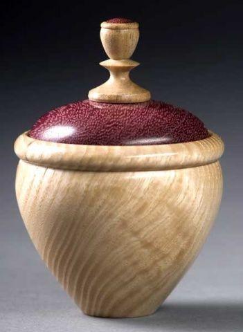 Wood Turning Art | woodturning photos-ash-purple-heart-box.jpg