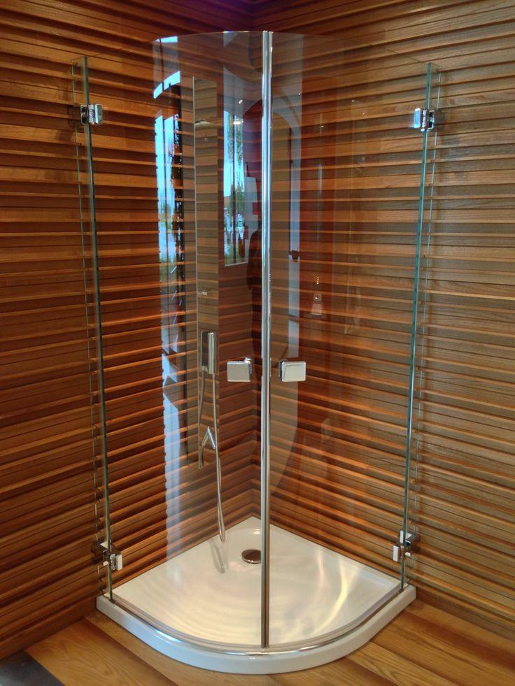 Box doccia con colonna doccia mm. 1550 con miscelatore e cascata Bongio