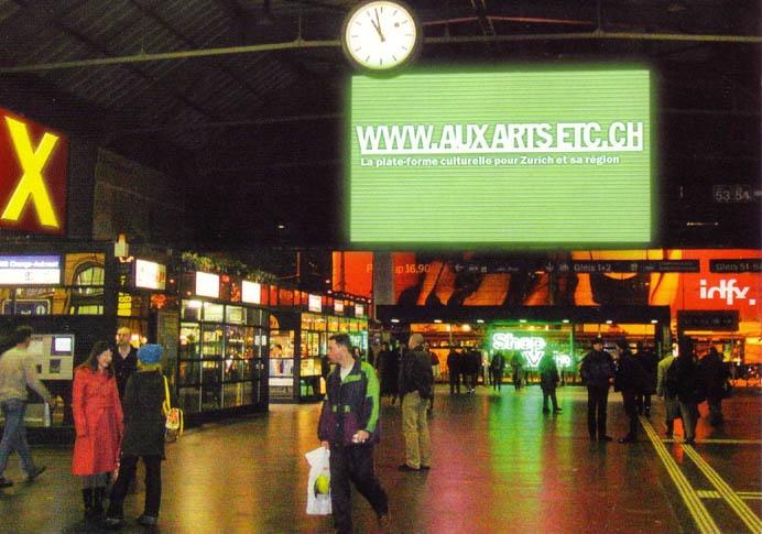 AUX ARTS ETC... La plate-forme culturelle pour Zurich et sa région.