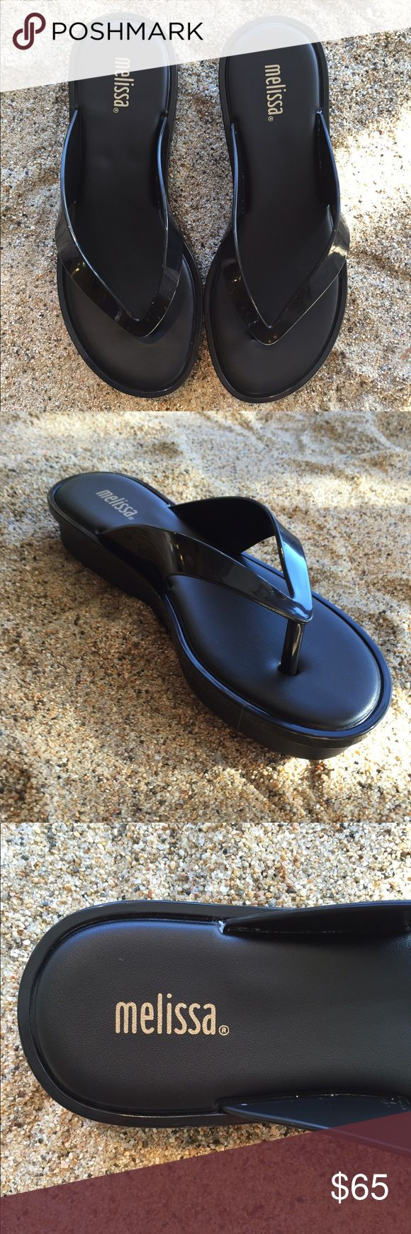 Melissa Flat Form Sandal Casual sandal styled with a padded footbed- inset platform and rubber sole Melissa Shoes Sandals