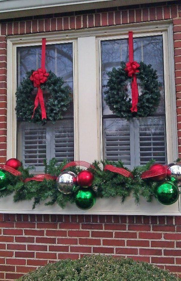 fensterdeko für weihnachten von außen