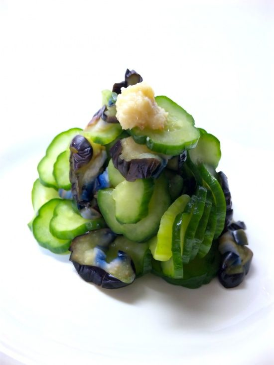 Vegetables pickled Eggplant and cucumber