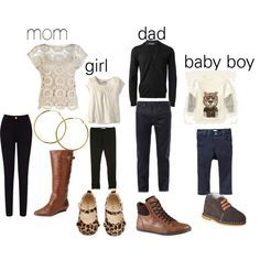 Fall Family Picture Outfit Ideas | Fall Family Photo Outfit idea. Black, Tan & Cream.