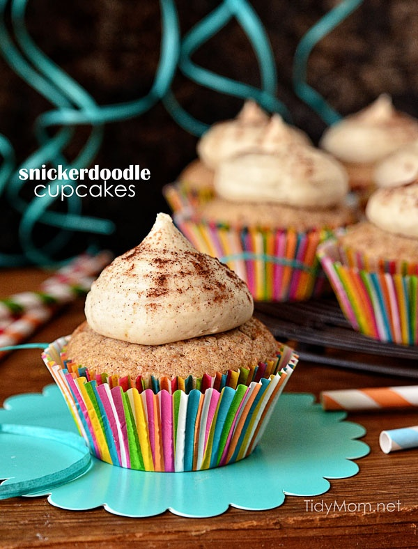 Snickerdoodle Cupcakes with Brown Sugar Buttercream | recipe at TidyMom.net