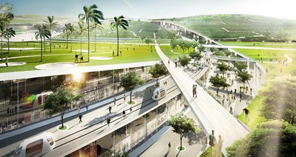 BIG's Hybrid between Urbanism and Landscape Design Awarded First Prize at EuropaCity Competition