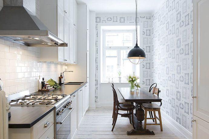 Fint kök på Subrunnsgatan i lantlig stil