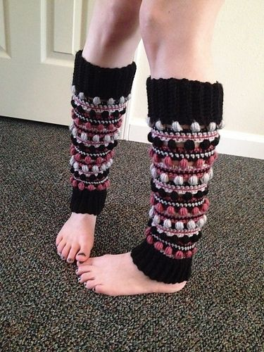 These fun to make leg warmers will definitely use up your yarn scraps! If you don't like stripes just make them in a solid color. You can use any worsted wt. (# 4) yarn.
