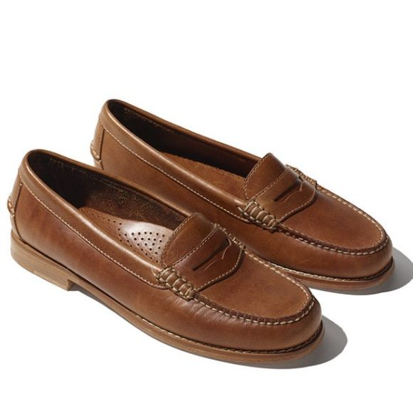 Women's LL Bean leather penny loafers Only ever tried on, really tight for a 7…