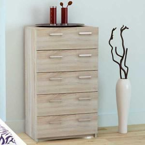 Tribecca 5 Drawer Chest - Oak Look W60 x D40 x H108.7cm. Get marvelous discounts up to 60% Off at Deals Direct using Coupons & Promo Codes.