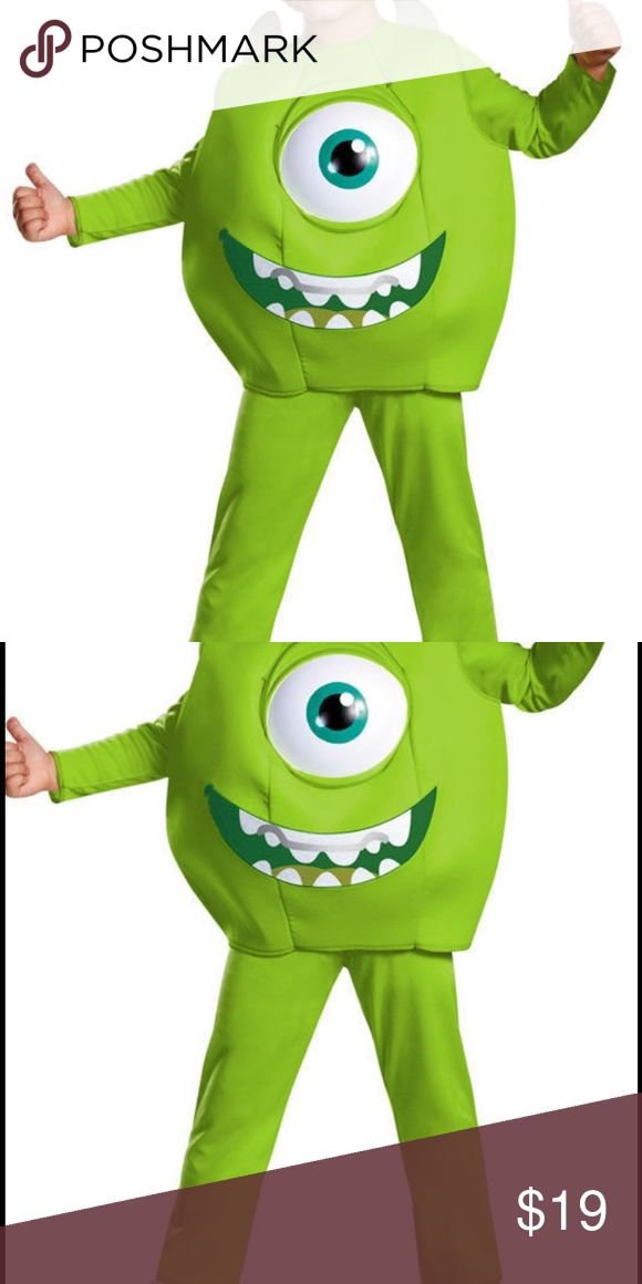 Monster's University Mike Deluxe Toddler New From Smoke Free, Pet Free, Environment, Never Used or Worn, Great for Kids Play Includes Hat Jumpsuit and Chest Piece, Original Package Has been Damaged Item will be Folded Neatly and Shipped in Poly Bag Costumes Halloween