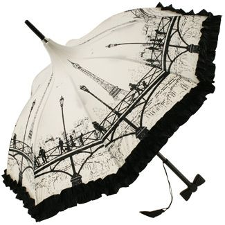 This umbrella is by one of my very favorite umbrella designers, Guy de Jean.