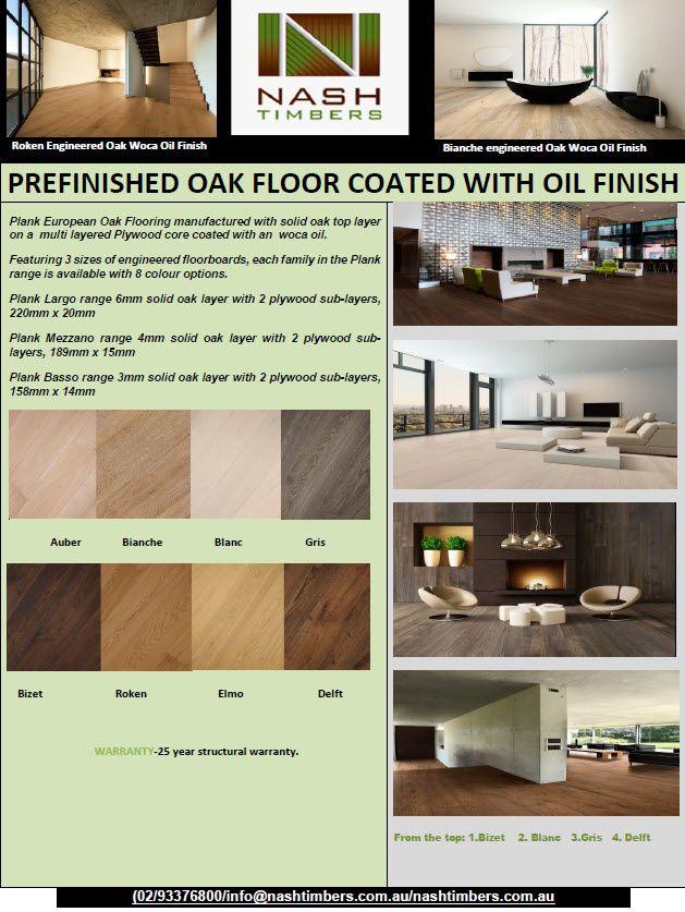 Woca Prefinished Engineered Oak Floor  Brochure