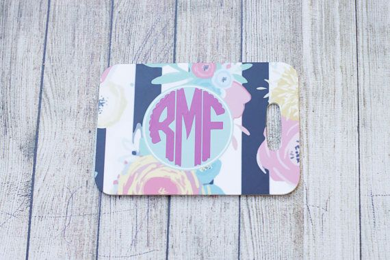 These Lilly P Inspired Personalized Luggage Tags are the perfect way to be able to tell your suitcase, backpack or bag apart from a sea of others at the airport. With your choice of 8 patterns and 18 different vinyl colors to choose from for the monogram, the possibilities are endless! These luggage tags have a full pattern on the back. These make a great graduation gift, bridal shower gift, or congrats on a new job! Purchase coordinating patterns for your next family vacation! Made from FRP…