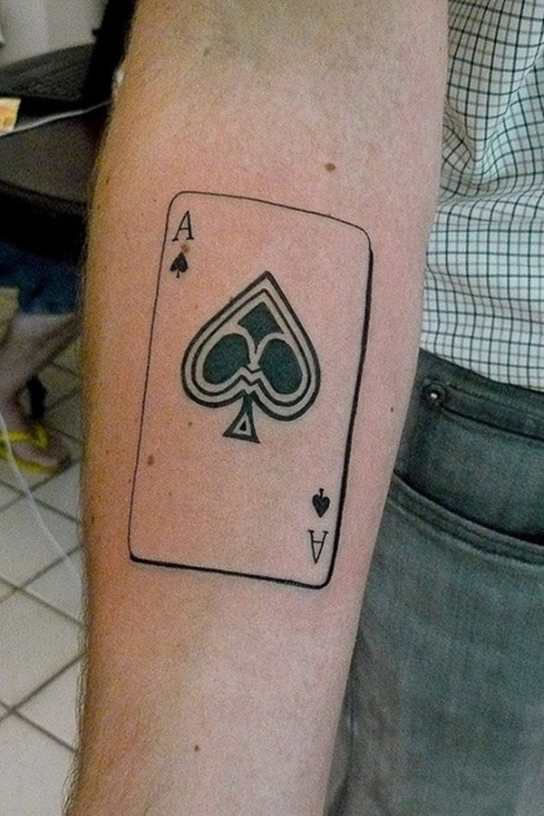 ace of spade card tattoo  Ace of Spades Tattoo Designs and Meanings 6 | Ace of spades ...