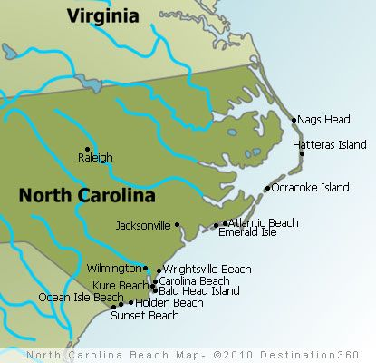 Image detail for -North Carolina Beaches Map - Outer Banks Beaches Map