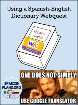 This activity teachers students how to correctly use a Spanish to English/English to Spanish dictionary to translate words. Using the website or app Wordreference, students will discover how to find the correct definition based on context. 2 pages. Answer sheet provided.