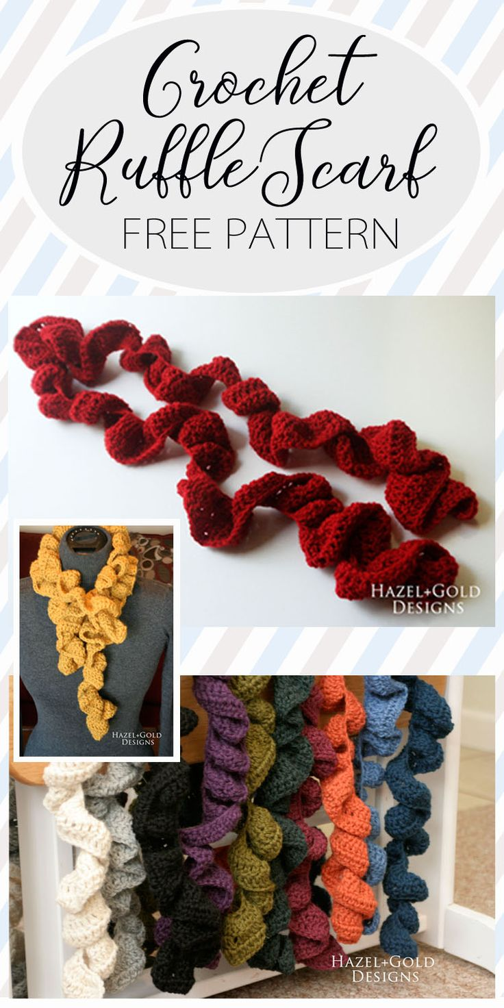 Make yourself an awesome crocheted ruffle scarf. Warm and cute!  ruffle scarf, crochet scarf, crochet ruffle scarf, free crochet pattern, free scarf crochet pattern, handmade crochet, free pattern, diy crochet