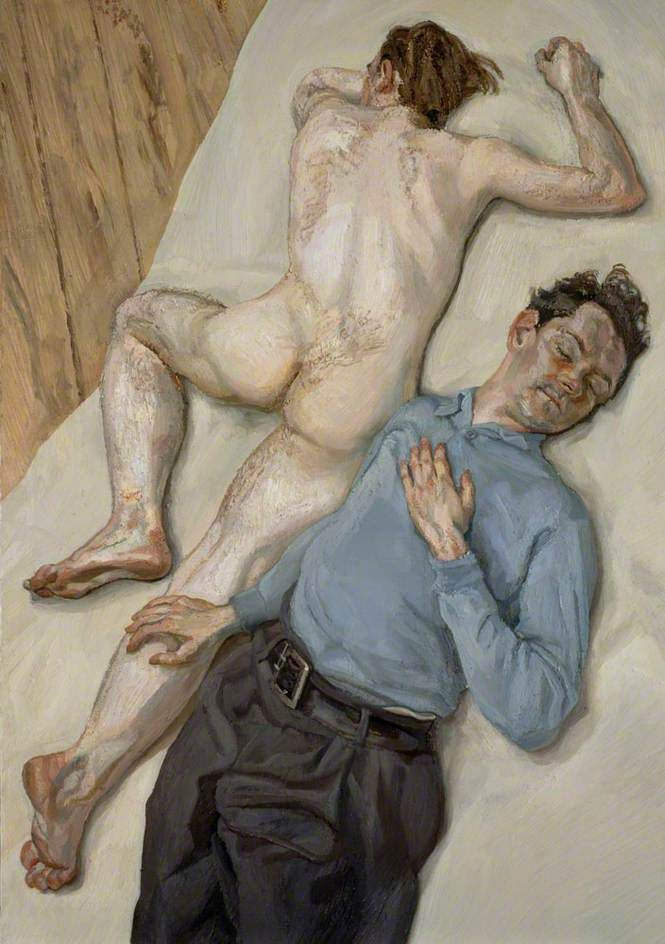 Two Men by Lucian Freud