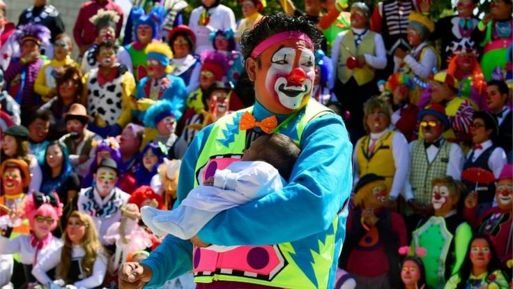 """Latin American clowns meeting at an international convention in Mexico City say they are harmless as they condemn recent """"creepy clown"""" sightings around the world."""