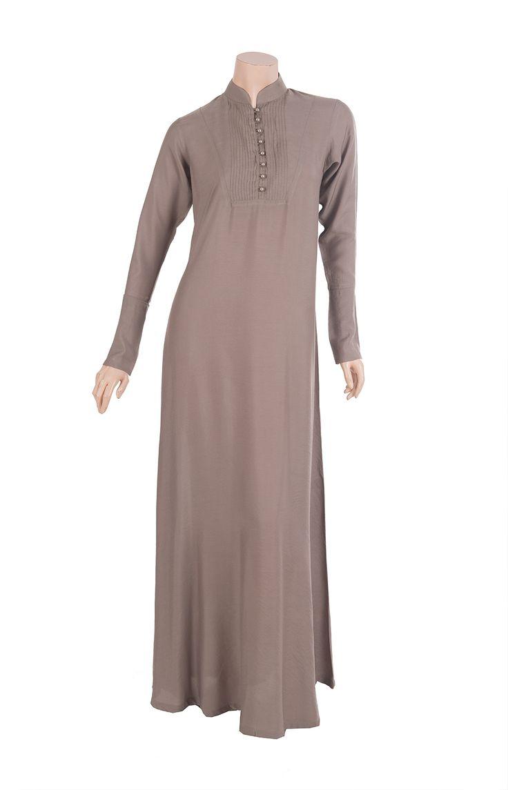 linen abayas | Home / Abayas & Jilbabs / Dusty Pink Pintuck Abaya