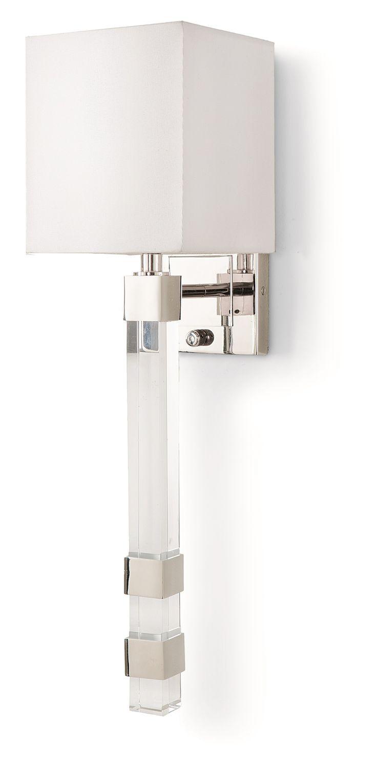 Элегантное бра в современном сдержанном стиле.             Материал: Металл, Ткань.              Бренд: Hampton Lighting.              Цвета: Белый, Светло-серый.