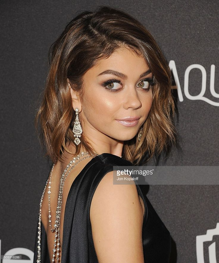 Actress Sarah Hyland arrives at the 2016 InStyle And Warner Bros. 73rd Annual Golden Globe Awards Post-Party at The Beverly Hilton Hotel on January 10, 2016 in Beverly Hills, California.