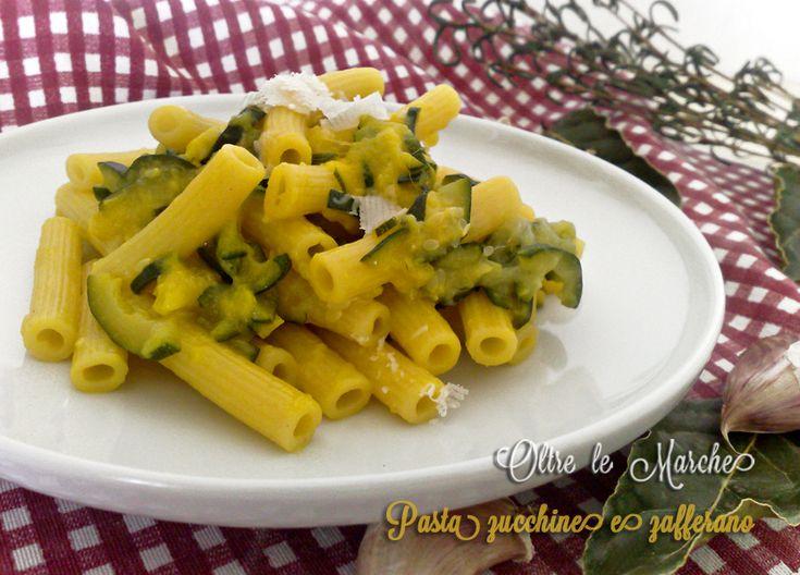 Pasta zucchine e zafferano, vegetariana   Oltre le MarcheOltre le Marche