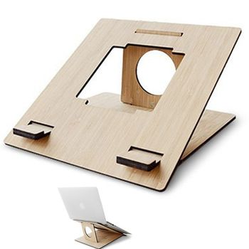 Laptop Stand for Apple simple wooden portable laptop cooling stand  Environmental Protection