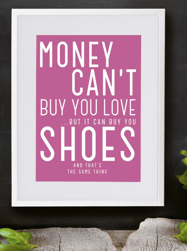 Money can't buy - Personalised print from MAYKI