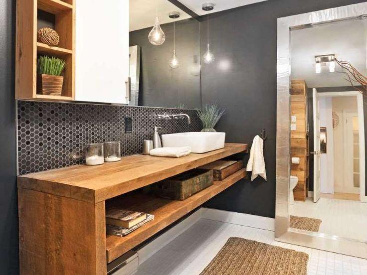 54 best Salle de bains images on Pinterest Bathroom, Bathroom - salle de bain rouge et beige