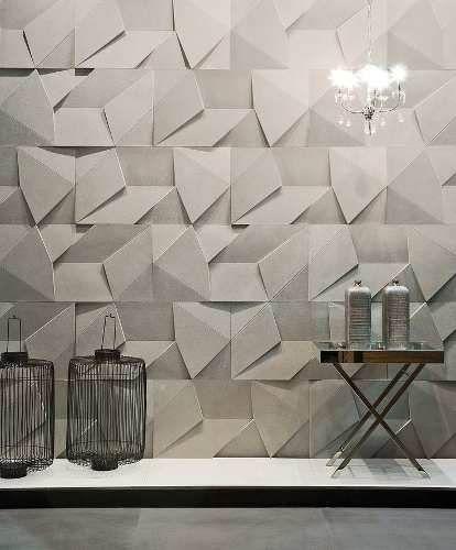revestimento 3d de gesso scaleno parede - painel, placas 3d