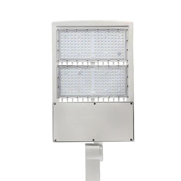 Led Shoebox Pole Light 300w 5000k Daylight With White Housing 5000k Shoe Box Led