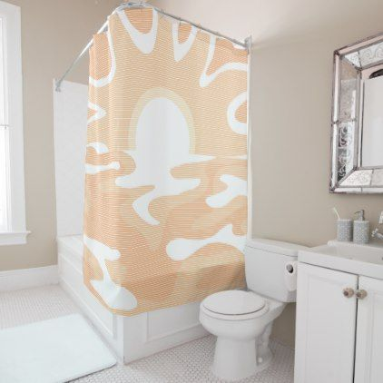 Sunshine Ocean Beach Peach Shower Curtain