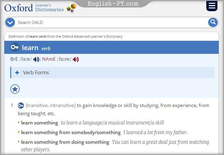 تحميل قاموس اكسفورد Oxford Dictionary للاندرويد برامج سوفت Advanced Learners Oxford Dictionaries Verb Forms