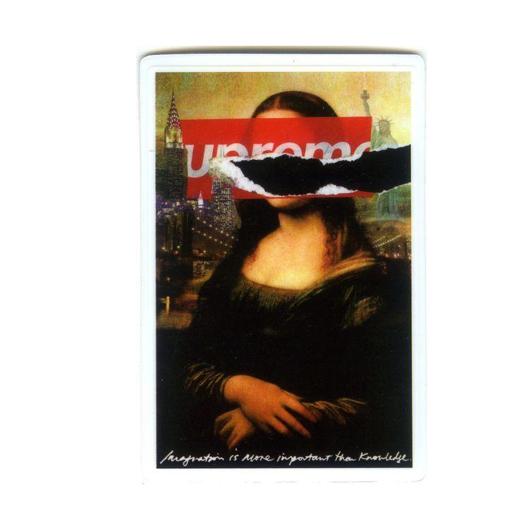 #1396 Mona Lisa Supreme , Height 8 cm, decal sticker - DecalStar.com
