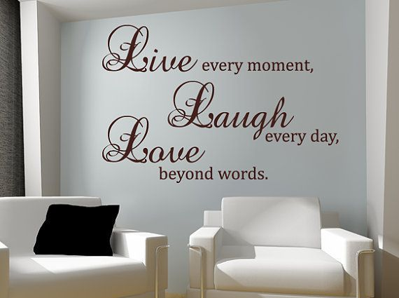 Live Laugh Love Wall Decal Vinyl Sticker Quote Art Living Room Dining Room  Decor Mothers Day